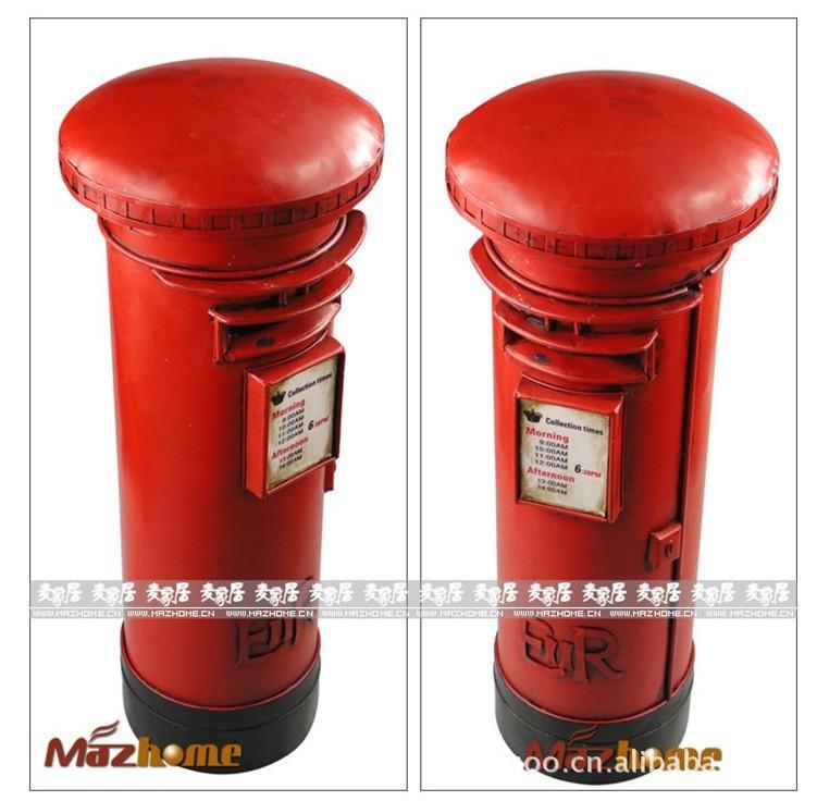 British retro mailbox piggy Continental Iron crafts ornaments props model window dressing taste(China (Mainland))