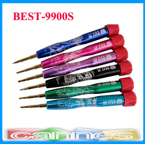 BEST-9900 Magnetic pentalobe phillips type screwdriver for iphone Samsung Opening Tools(China (Mainland))