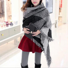 Winter Scarf Tartan Plaid Imitation Cashmere Scarf Pashmina New Designer Blanket Scarf Luxury Brand Women's Scarves And Wraps Q2(China (Mainland))