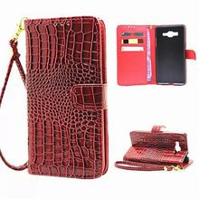 Hand Strap Wallet Case For Samsung Galaxy Grand Prime G530H G530 G531 G531H Phone Bags Cases Crocodile PU Leather Flip cover(China (Mainland))