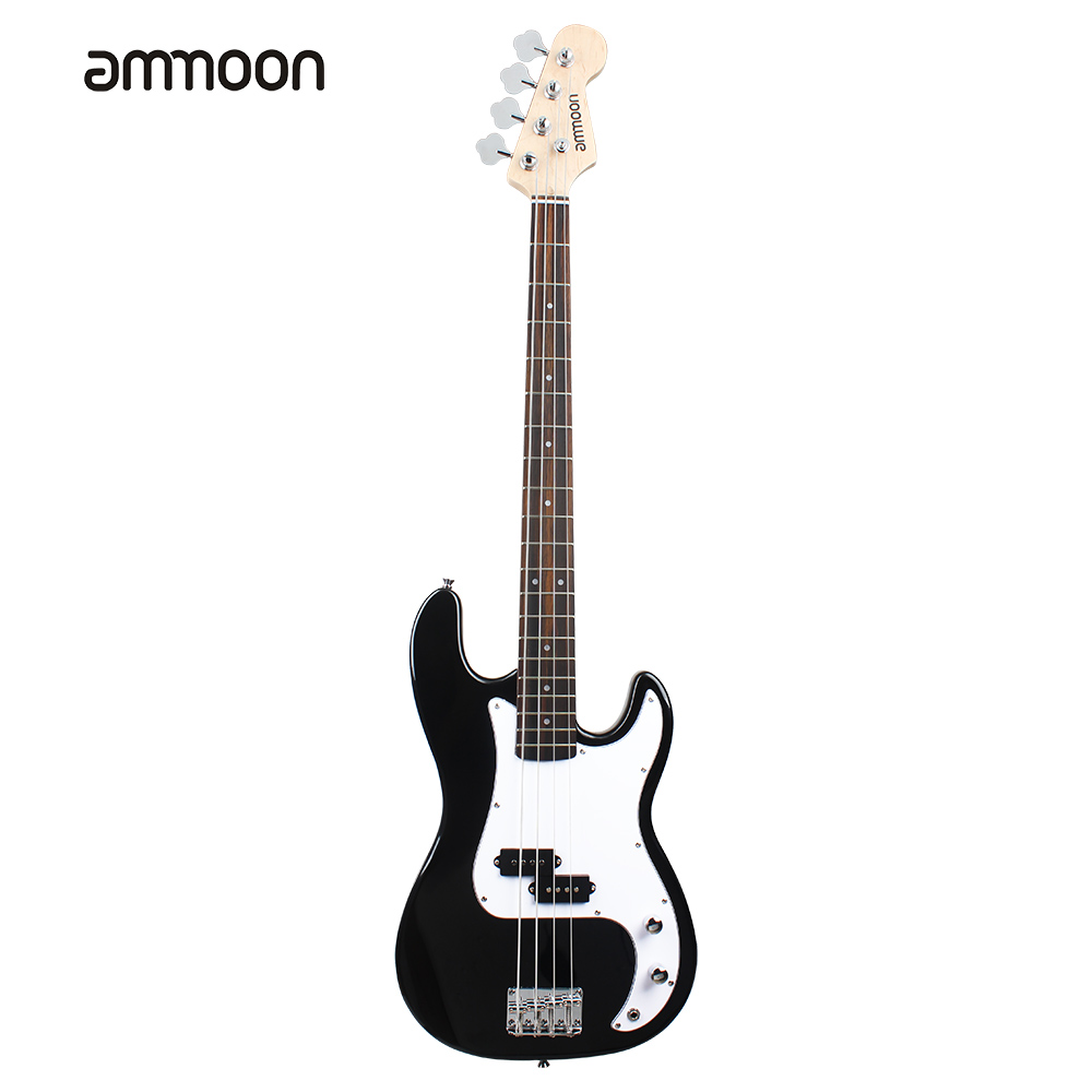 Hot Sale ammoon Solid Wood Electric Bass Guitar PB Style Basswood Body Rosewood Fingerboard with Gig Bag Strap Cable Pickups(China (Mainland))