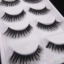 5 Pairs Thick Soft Cross Fake Eye Lash Party Makeup Extension False Eyelashes 1UYJ(China (Mainland))