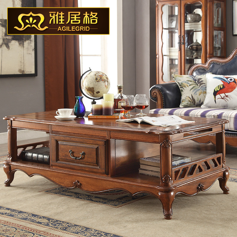 american wood coffee table small apartment living room tea antique
