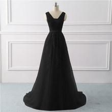 רויאל בלו שמלת ערב בתוספת גודל ארוך 2019 קו צד פורמלי שמלות אפליקציות תחרה לנשף שמלת שמלת כלה Vestido דה noiva(China)