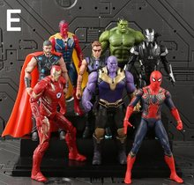 6 pçs/set Brinquedos Marvel The Avengers Figura 18 centímetros de Super-heróis Batman Capitão América Thor Hulk Action Figure Collectible Modelo Boneca(China)