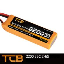 TCB RC lipo battery 11.1v 2200mAh 25C 3s RC airplane battery factory-outlet goods of consistent quality Free shipping