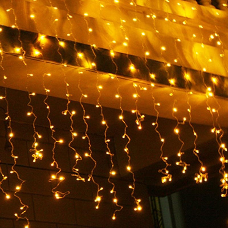 Yellow Led String Lights : 2015 Christmas String Lights Yellow 200 LED Outdoor Web Fairy Lights Wedding Decoration 20m EU ...