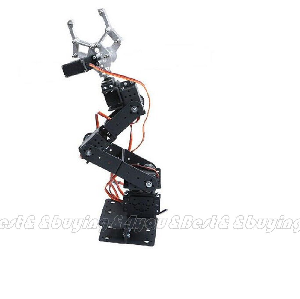 6DOF Aluminium Mechanical Robotic Arm Clamp Claw Mount Robot No Servo Free Shipping (90908038)(China (Mainland))