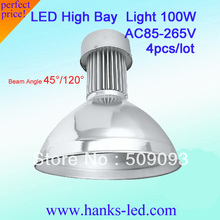 Top Quality! 100W LED High Bay Lights,45/120 beam angle 10000LM,Top IP65 Driver  Warranty: 3 years 4pcs/lot free shipping(China (Mainland))
