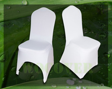 100 White Spandex Chair Cover Wedding Chair Covers for Weddings Party Decorations Banquet Hotel(China (Mainland))