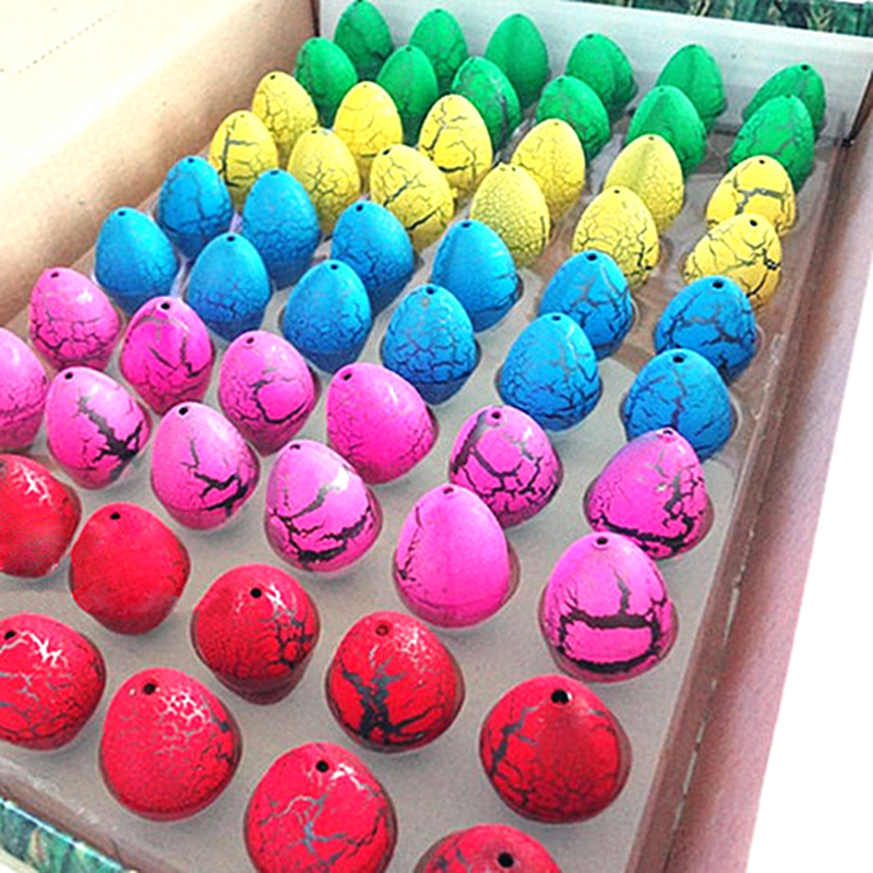 60pcs/lot Magic Water Hatching Inflation Growing Dinosaur Eggs Toy For Kids Gift Child Educational Novelty Gag Toys(China (Mainland))
