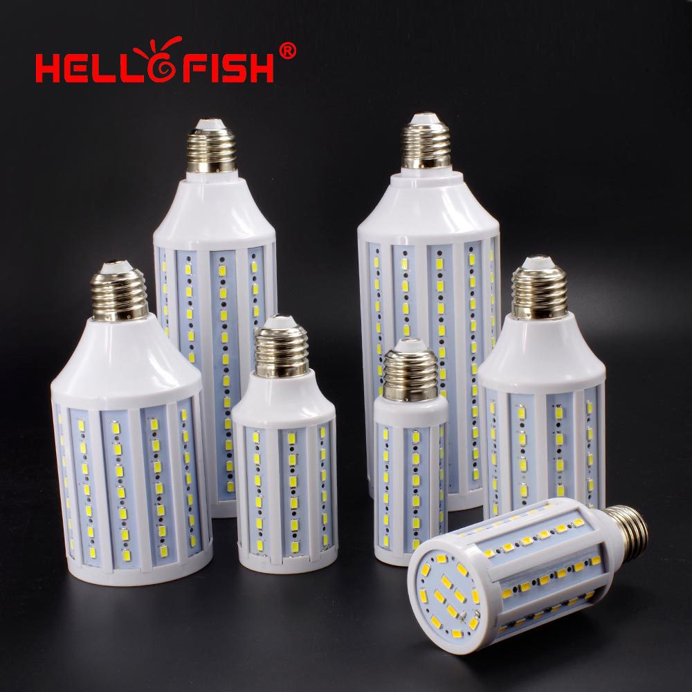 Hello Fish 5730 SMD LED Lamp, 4W 5W 7W 11w 15w 25w 30W LED Corn Bulb, E27 220V/110V Corn bulb light(China (Mainland))