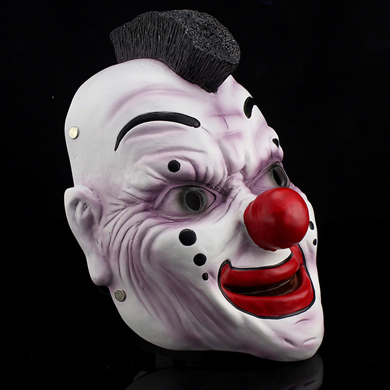 resin clown mask slipknot joey cosplay mask scary movie