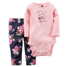 Original Carters Baby Boys Girls Bodysuits Clothing Set Autumn clothes Set Jumpsuit+Pants 2pcs for Baby Girl Boy