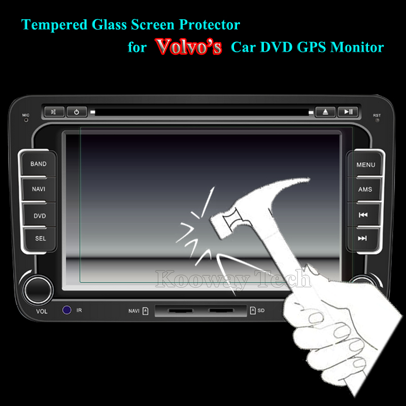 175 x 99 / 175 x 97 Glass LCD Guard for Volvo XC60 S60L S80L V40 Car GPS Video DVD MP4 PDA PC Tempered Glass Screen Protector(China (Mainland))