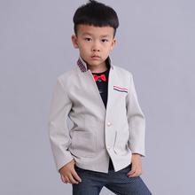 Nouveau 2015 printemps / automne col montant Style de l'école garçons Blazers costumes enfants vestes enfants manteaux T2 / 0304DT15(China (Mainland))