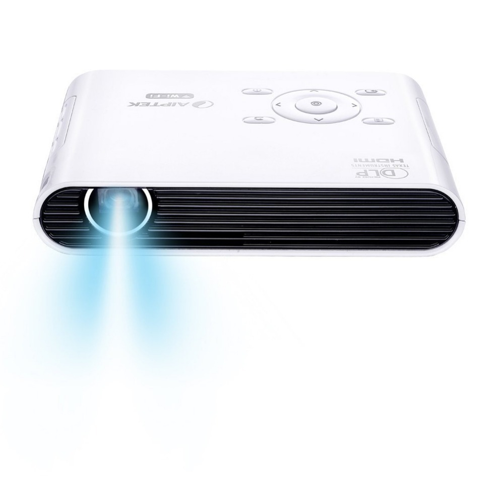 Aiptek v150w new wireless intelligent hd mini projector for Dlp pico projector price