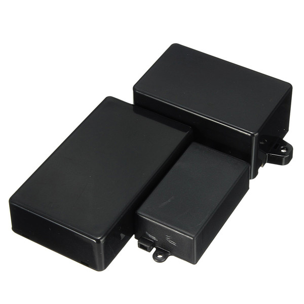 Black Waterproof Plastic Cover Project Electronic Instrument Case Enclosure Box(China (Mainland))