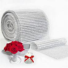 Buy 20 colors Mesh Trim Bling Diamond Wrap Cake Roll tulle 1 yard/91.5cm Crystal Ribbons Party Wedding Decoration party supplies for $1.02 in AliExpress store