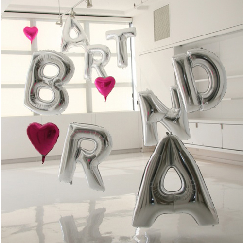 1pcs 16''Aluminum foil membrane Happy birthday Silver/Gold set Nice Hot sales party balloons. letter balloons! party decoration(China (Mainland))