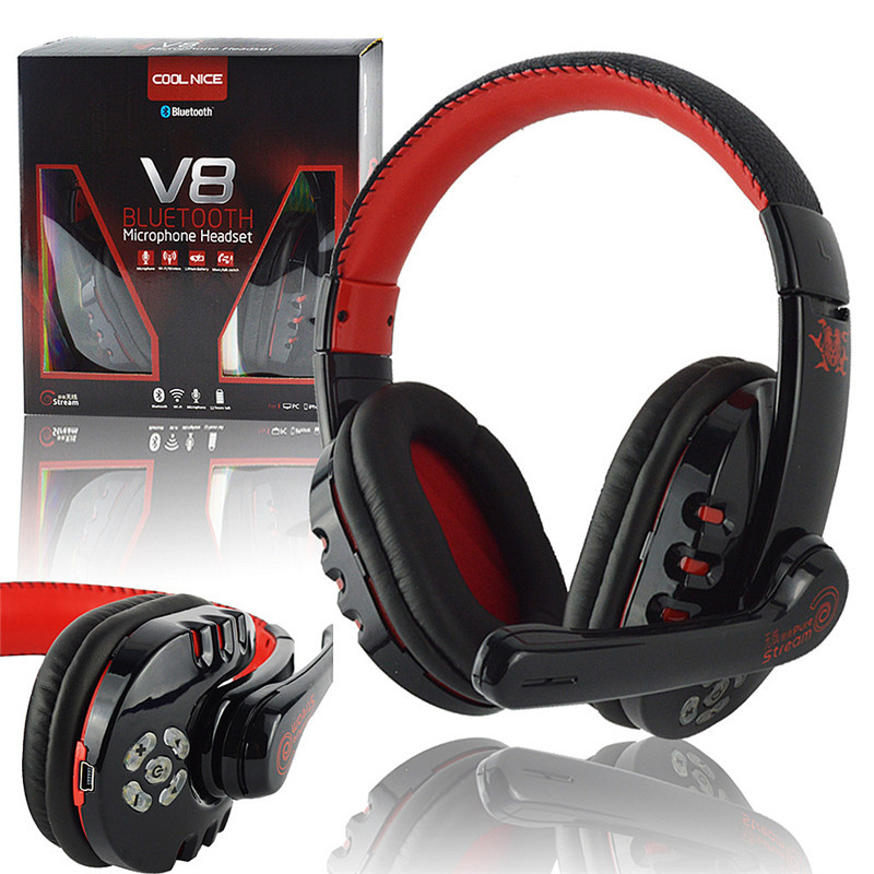 Fi Noise Cancelling Sans Fil Bluetooth Jeu Gaming Headset Casque écouteurs W / MIC Mains