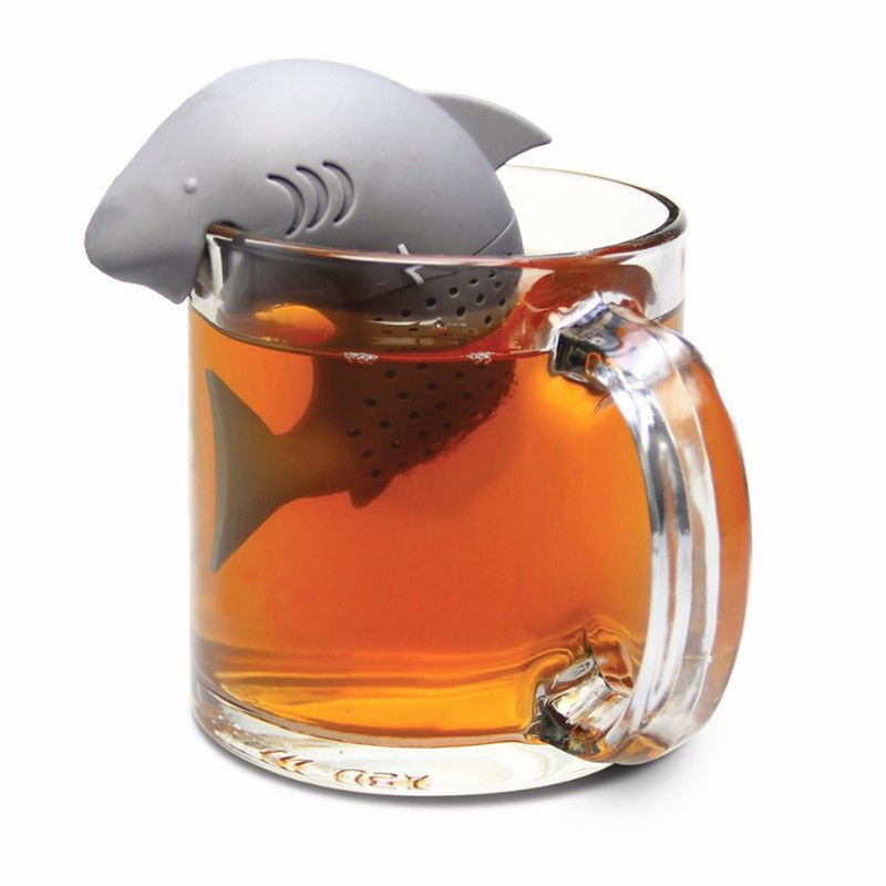 Silicone Shark Infuser/Loose Tea Leaf Strainer/Herbal/Spice