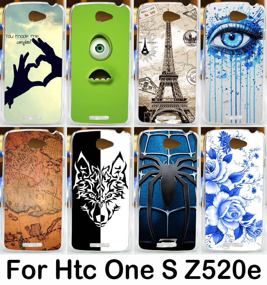 Soft TPU Hard plastic brilliant colorful beautiful skin shell cover case for HTC One S Z520E G25 4.3 inch multi cell phone case(China (Mainland))