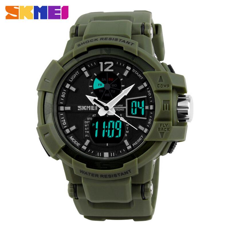 Fashion Outdoor Men Boy Sports Watches SKMEI Brand LED Digital Quartz Multifunction Waterproof Military Watch Dress Wristwatches(China (Mainland))