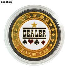 Hot Sale Kartu Poker Guard Pelindung Logam Token Koin dengan Penutup Plastik Texas Poker Chip Set Pokers Eksportir Tombol Koleksi()