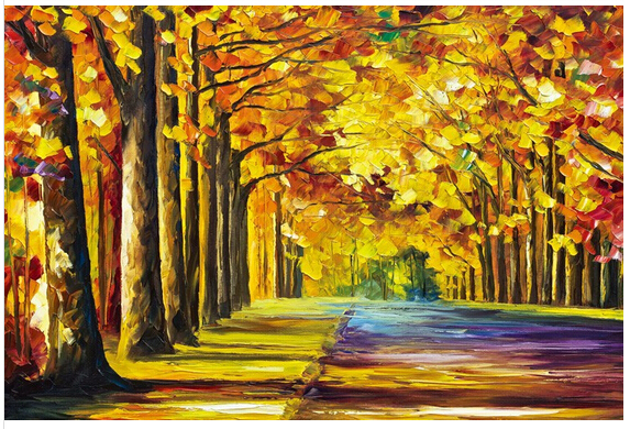 2015 new arrival 1000 pcs Autumn wood puzzle free shipping wooden toys teaser 3d puzzles for adults jigsaw of landscape(China (Mainland))