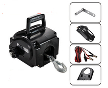 Boat winch Barge winch 12V 2500lb portable electric winch 12V electric winch(China (Mainland))