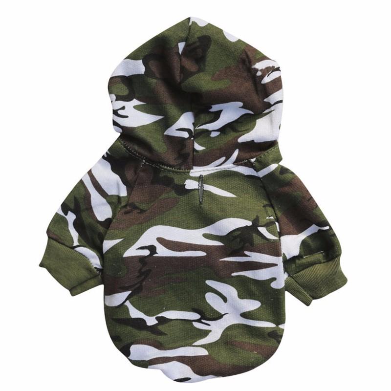 XS L для маленьких собак камуфляжные толстовки одежда модная весенне осенняя WG9676
