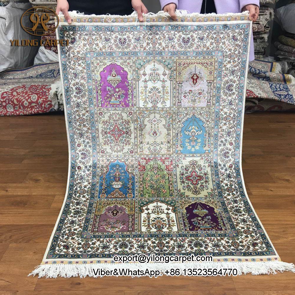 Yilong 2.7'x4' turkey silk rug four season design persian handmade carpets (wk103A-2.7x4)(China (Mainland))