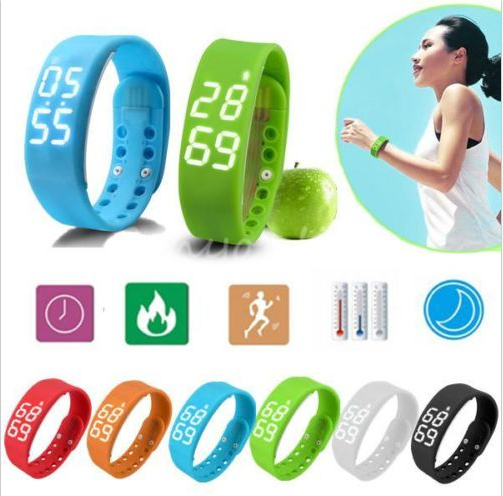 Waterproof 3D LED Calorie Pedometer USB Sports Smart Wrist Bracelet Watch(China (Mainland))