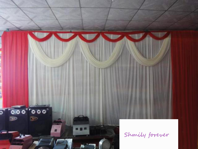 new pleated wedding backdrop curtain 20ft x 10ft 6m x 3m for sale in event party supplies. Black Bedroom Furniture Sets. Home Design Ideas
