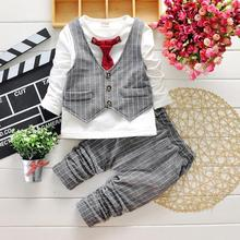 50 OFF 2015 Fashion Baby Boy Spring Clothes Gentleman Suit Toddler Boys Clothing Set Long Sleeve