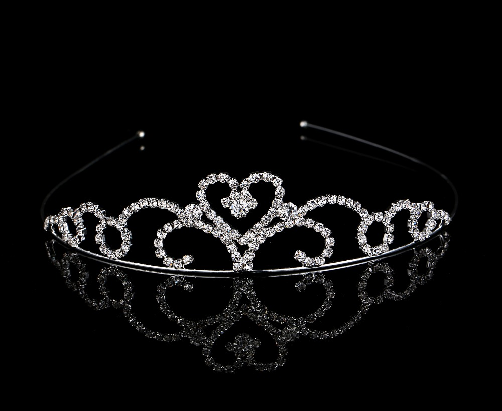 Hot sale Celebrity Cute Little Girl Rhinestone Princess Crown Headband Tiara Hair Sticks hair band hairband accessories(China (Mainland))