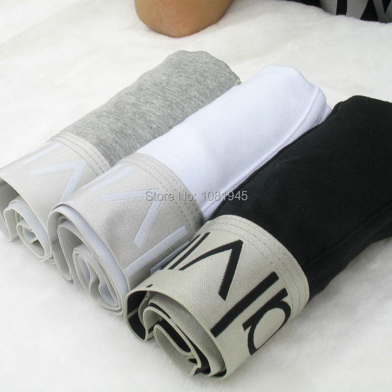 WHOLESALE PRICE 3PCS /lot Good quality sexy Man Boxer Shorts Mens boxers Men's underwear Cotton Black White Gray size M L XL XXL(China (Mainland))