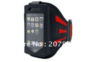 free shipping brand new 1pcs Sport arm bag arm band case armband bag for iphone 5 protector cover cases for Mobile Phone