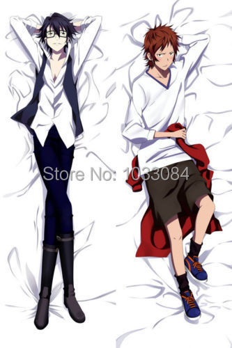 Anime Dakimakura Project K Fushimi & Yata BL Hugging Body Pillow Cover Case