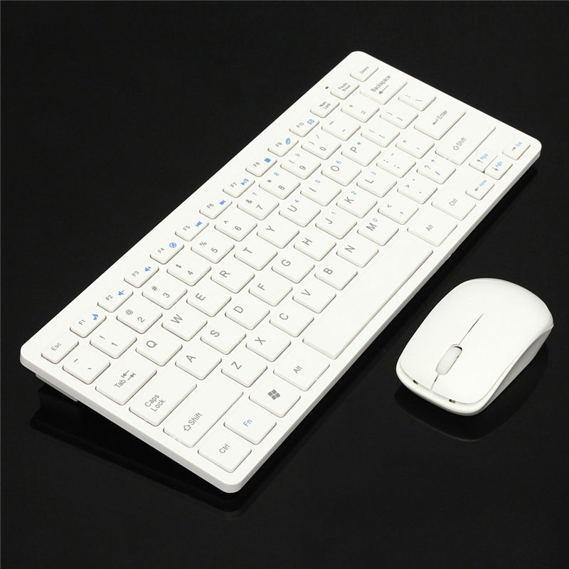 2.4GHz Wireless Keyboard Mouse Combo Ultra-thin Mini Computer Wireless Keyboard+Cover+Mouse Kit Gaming Keypad for Laptop PC(China (Mainland))