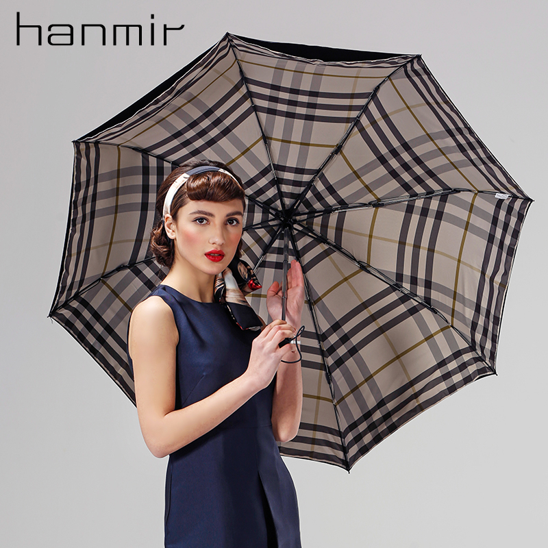Hanmir sun umbrella beach parasol auto big umbrella rain women uv umbrella for sun automatic folding ladies Color-changing(China (Mainland))