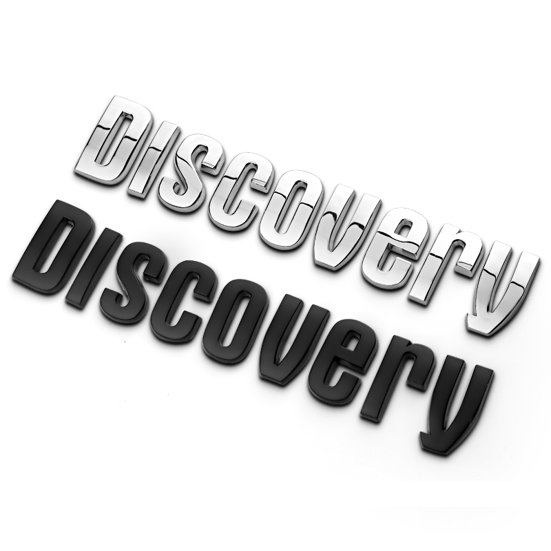 Discovery New Edition 1 Set 3D Metal Letters Car Auto Refit Pillar C Tailgate Chrome Emblem Sticker Discovery 2 4  Car-Styling