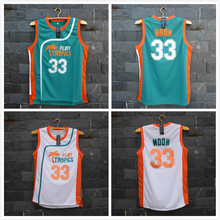 TIM VAN STEENBERGEB Jackie Moon 33 Flint Basketball Jersey All Sewn-Green And White(China (Mainland))