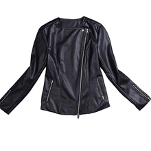 2016 New Genuine Leather Jacket Women Zip Suede Motorcycle Jackets Real Sheepskin Fashion Top Quality(China (Mainland))