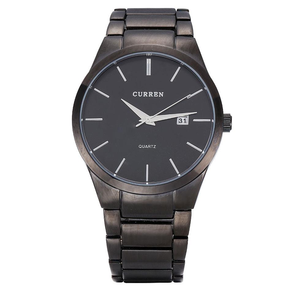 Relogio masculino CURREN люксовый бренд полных стали аналоговый отображение даты мужские кварцевые часы бизнес часы мужчины часы