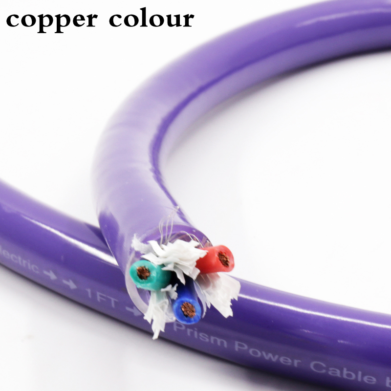 Copper colour SA-OF8N silver Shield OFC audio Power Cable DIY audiophile amplifier CD Player