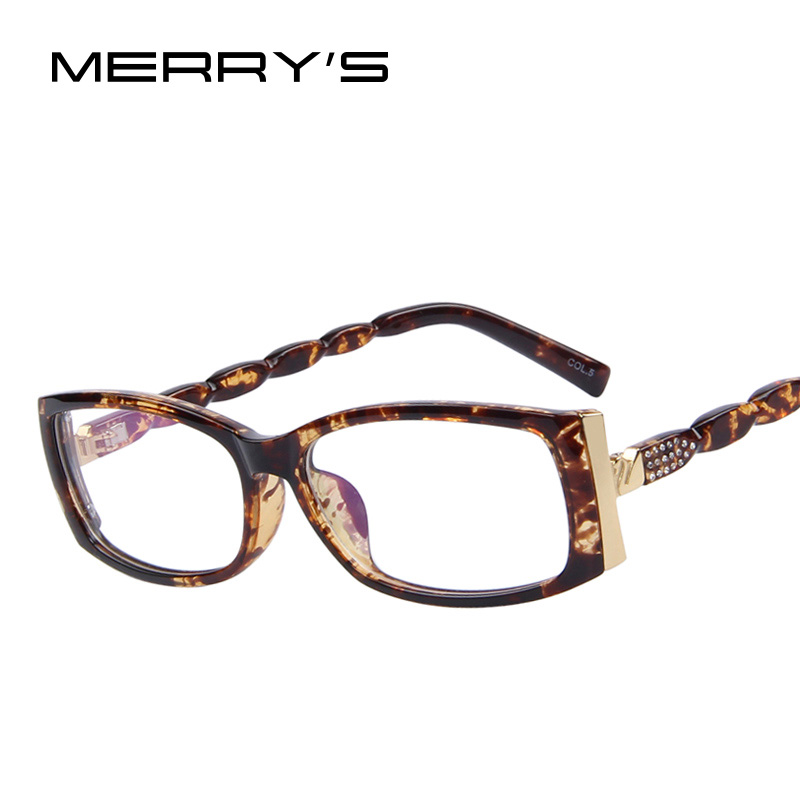 Designer Eyeglass Frames For Ladies : MERRYS Women Fashion Brand Designer Rhinestone Eyeglasses ...