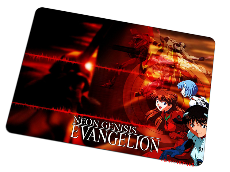 Neon Genesis Evangelion mouse pad red large pad to mouse computer mousepad Professional gaming mouse mats to mouse gamer(China (Mainland))