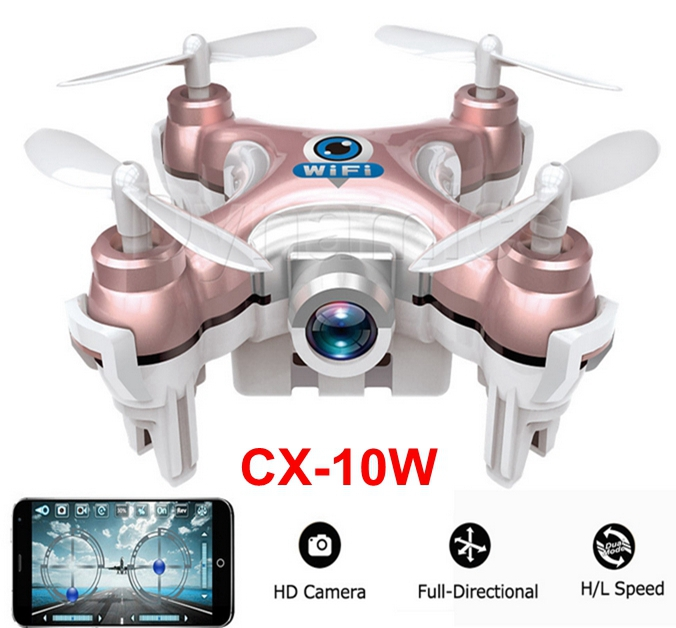 2016 New Original Cheerson CX-10W CX10W With Wifi FPV 0.3MP Camera LED 3D Flip 4CH Mini Drone BNF RC Quadcopter Helicopter Drone(China (Mainland))